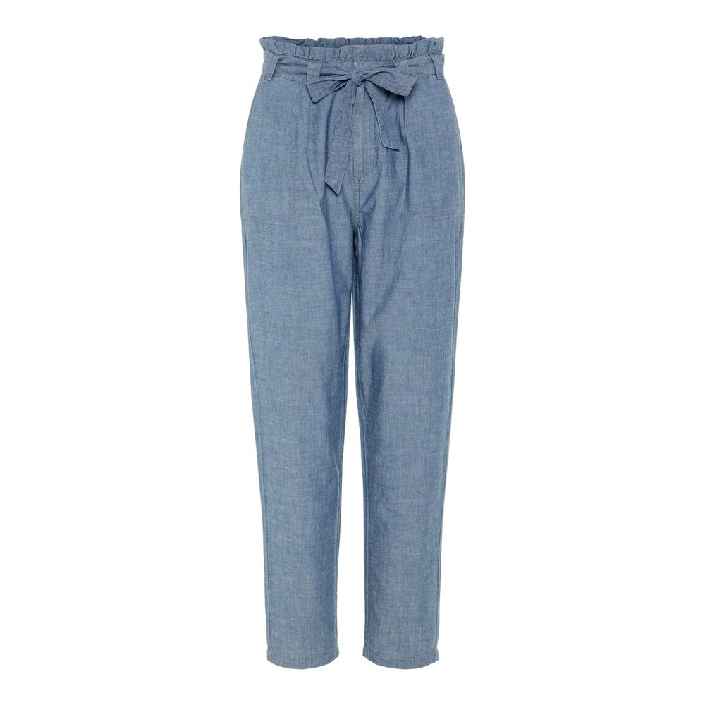 High waisted chambray Trousers