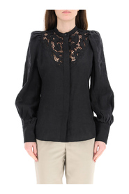 etima shirt with embroidered lace