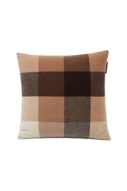 Checked Recycled Wool Pillow