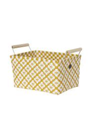 Motif Basket With White Pattern