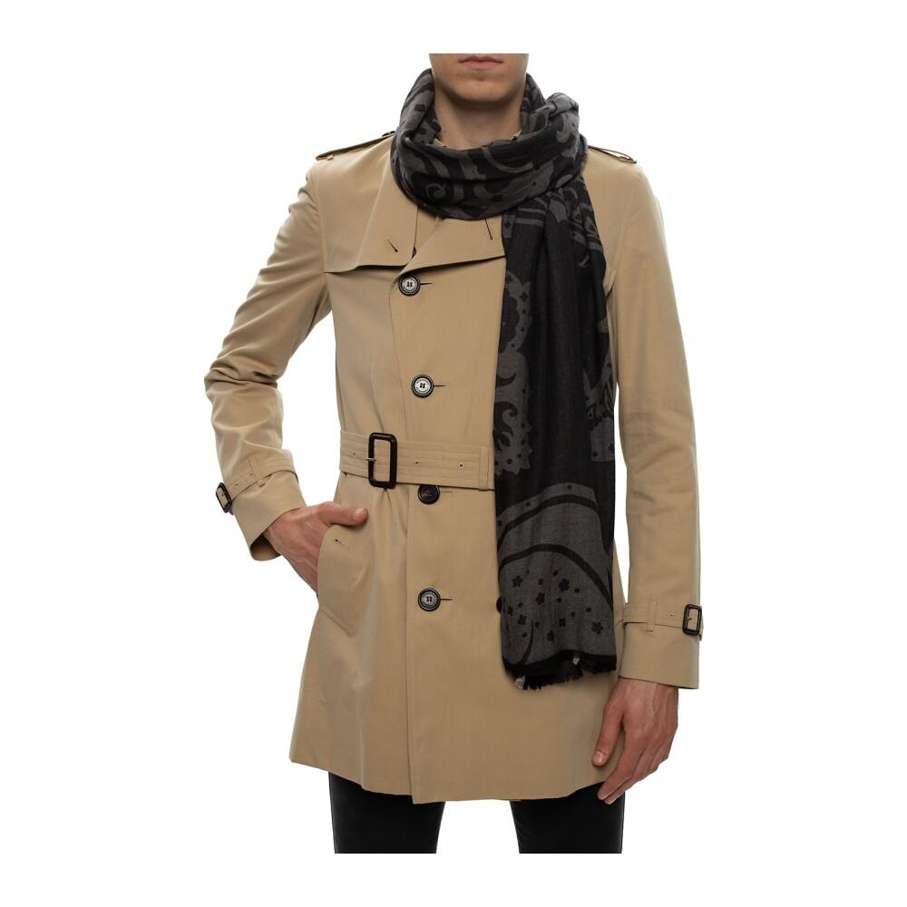 BLACK Patterned scarf | Etro | Sjaals | Heren accessoires