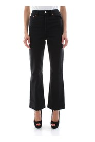 LEVIS 77876 0000 - RIBCACE CROP JEANS Women BLACK