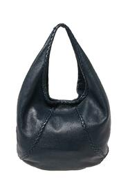pre-owned Leather Large Baseball Hobo