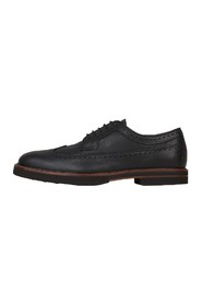 Derby shoes with full brogue