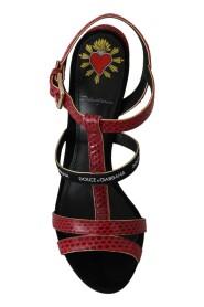 Skórzane sandały na obcasie Ayers