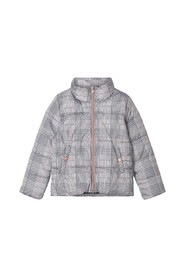 Puffer Jacket checked high neck