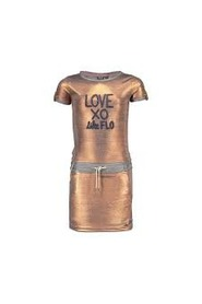 FLO jersey bronz metallic dress F803-5864-840 metallic bronz