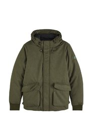 Scotch & Soda Short hooded jacket with inside quilted Winter Jassen Groen