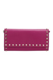 Rockstud Leather Wallet on Strap