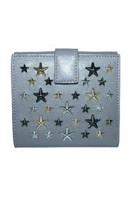 Leather Star Stud Small Wallet -Pre Owned Condition Excellent