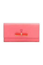Leather Long Wallet Pink
