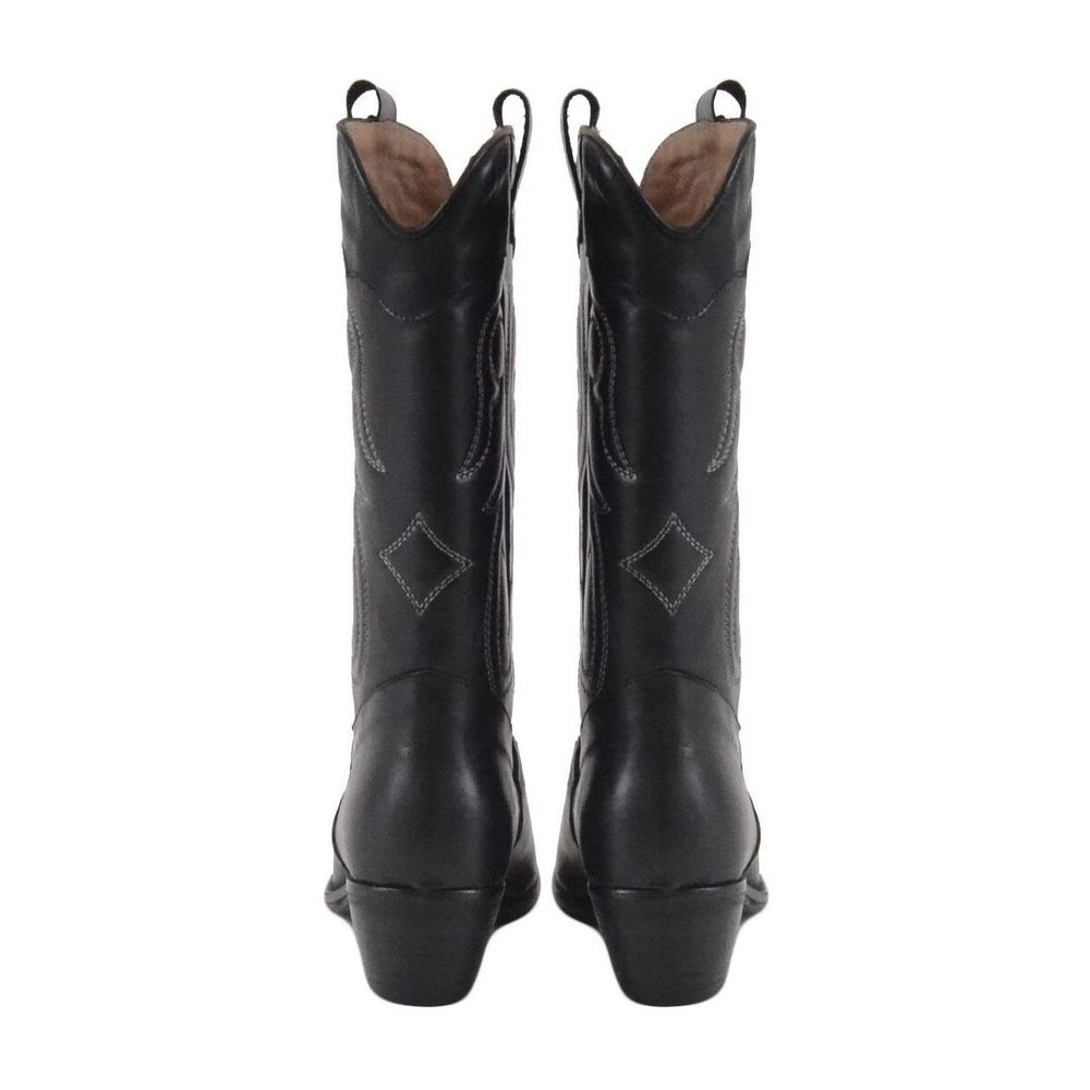 Gisel Moire Black ankle boots Gisel Moire
