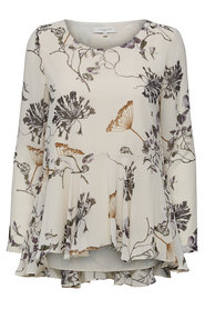 Long Sleeved Top Blomsttrykt -