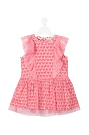 Heart tulle Dress with ruffles