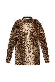 Oversize shirt with leopard pattern