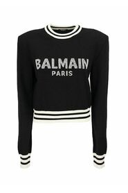 Cropped Sweater with Logo