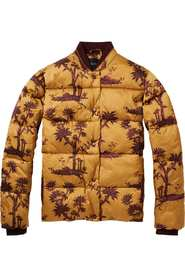 Maison Scotch Printed Jacket Mustard
