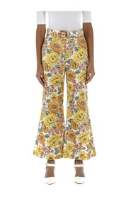 Poppy floral flared trousers