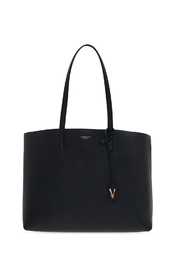 Logo-embossed hand bag