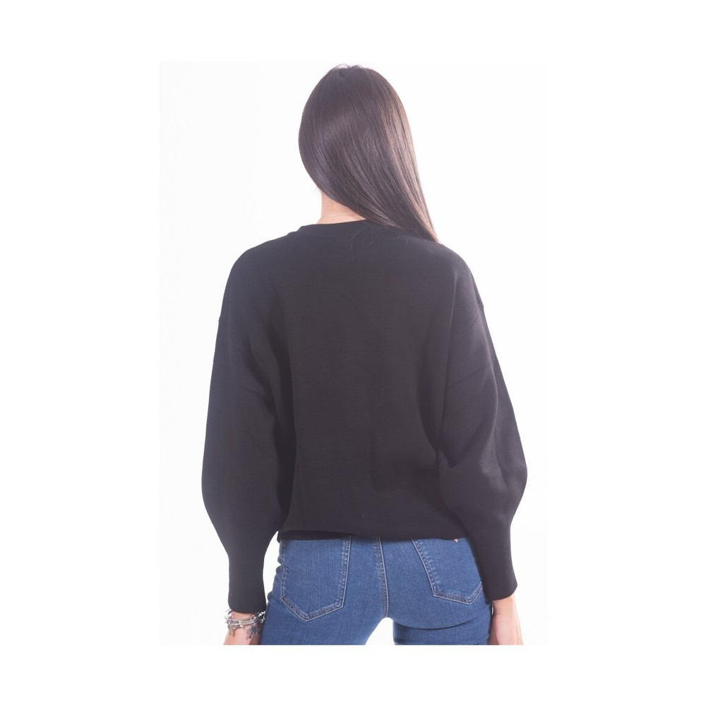 Guess Black Sweater With Logo W0BR969Z26I0 Guess