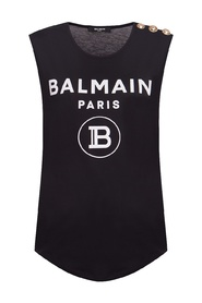 Sleeveless top with logo