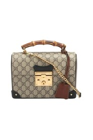 pre-owned Small Supreme Bamboo Padlock Crossbody Bag in coated/waterproof canvas