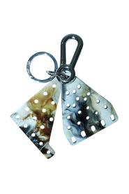 Marbled Enamel Key Ring -Pre Owned Condition Very Good