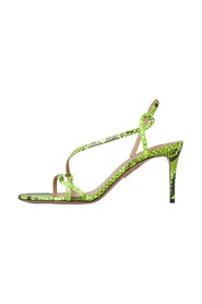 Serpentine Heel Sandals
