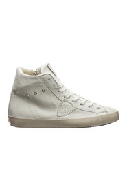 High top leather trainers sneakers paris