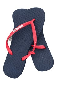 Havaianas - Klipklapper, Slim Logo Pop-Up - Navy / Red Ruby