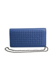 Pre-owned Intrecciato Chain/Shoulder Wallet