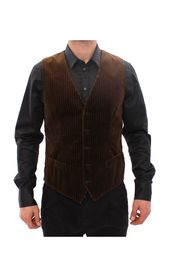 Velvet Single Breasted Vest Gilet