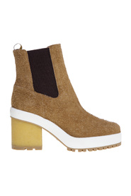 Suede ankle boot with 65 mm heel