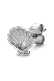 Salon Scallop Back ear stud, sterling silver