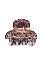 GLITTER HAIR CLAW SMALL PINK