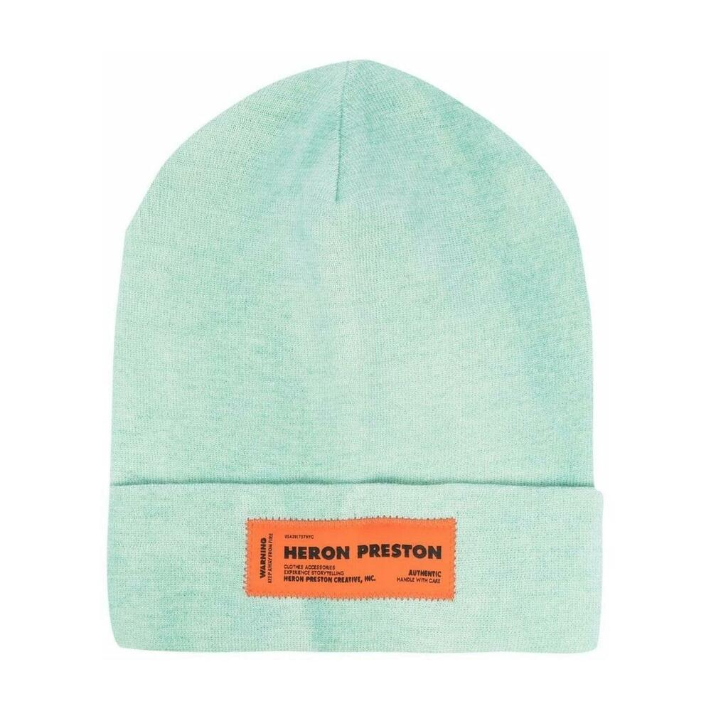 Beanie with Logo Patch and Turn-up Brim