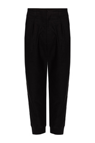 Trousers with pin tucks