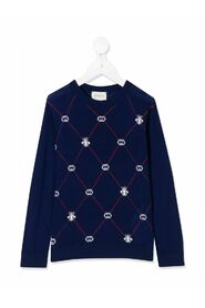 Inlaid round jacquard sweater