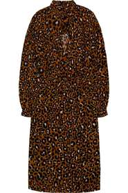 Animal printed fitted waist dress