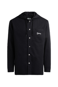 Bamboo black shirt with hoodie and logo on the back