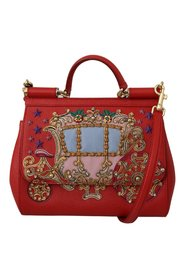 Leather Carriage SICILY Bag