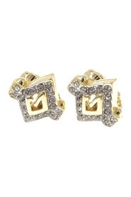 G Logo Rhinestone Earrings