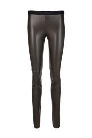Synteke læder leggings + E 84,05 J78 695