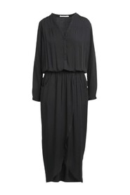 Vera Solid Wrap Over Dress