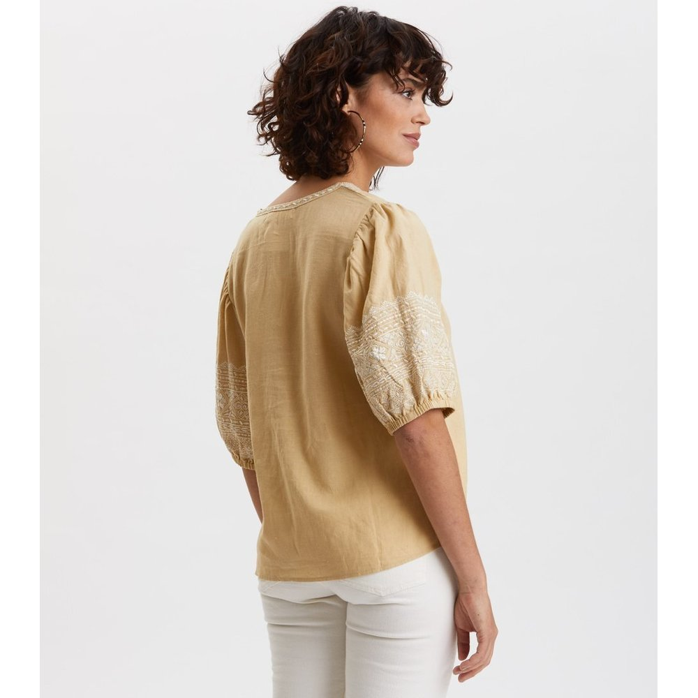 Odd Molly Beige Dynamic Blouse Odd Molly