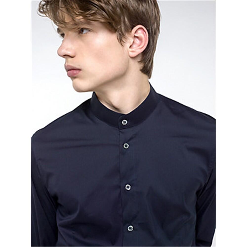 5C0257/A01 Korean Men NAVY | Patrizia Pepe | Långärmade skjortor | HerrSkjortor1124836