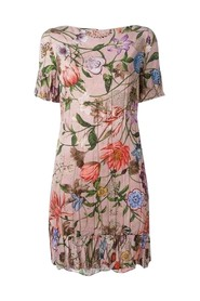 Blooms Floral Print Ruffled Dress