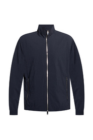 Jacket with standing collar
