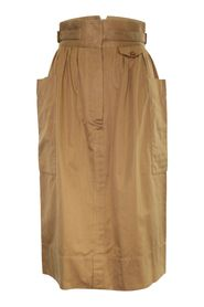 High-Waist Skirt in Cotton Gabardine