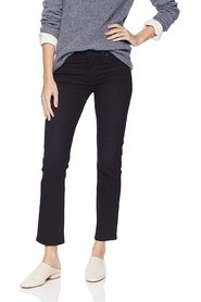 Jeans Black  Ankle Straight Zip-Fly Stretch
